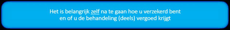 Mondzorg Westfriesland vergoedingen